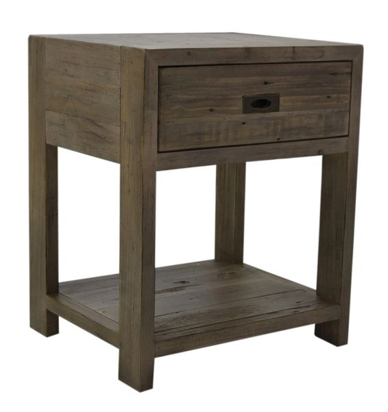 Coventry Lamp Table in salvage grey