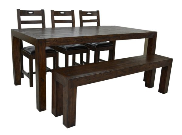 FSC Coventry Large Dining Bench in coffee bean