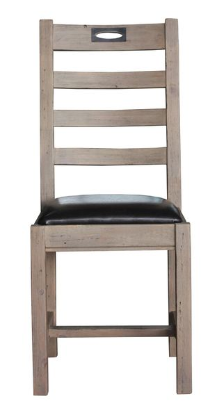 FSC Salvaged Timber Keyhole Dining Chair in Salvage Grey