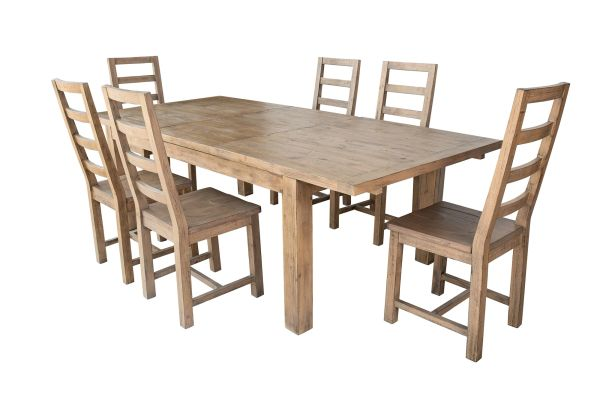 Coventry FSC Large Extending Dining Table in salvage grey