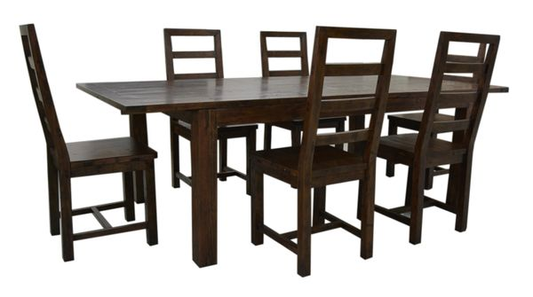 Coventry FSC Large Extending Dining Set in coffee bean