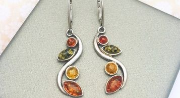 Baltic Amber from the Baltic Sea and manufactured in Poland. Fine sterling silver and amber jewelry