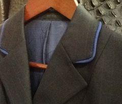 R.J. Classic Black Plaid Piped Hunt Jacket