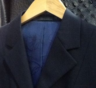 RJ Classic Sterling hunt coat navy plaid