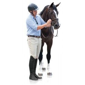 Ovation® EuroWeave™ Front Zip 4-Pocket Knee Patch Breeches - Men's