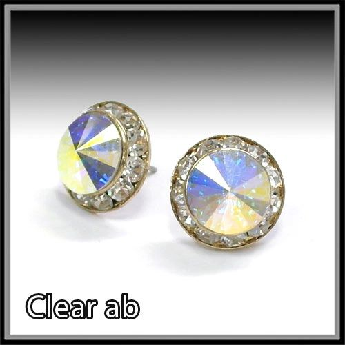 AB Crystal Post earrings