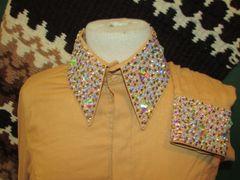 Gold Ladies western Show shirt
