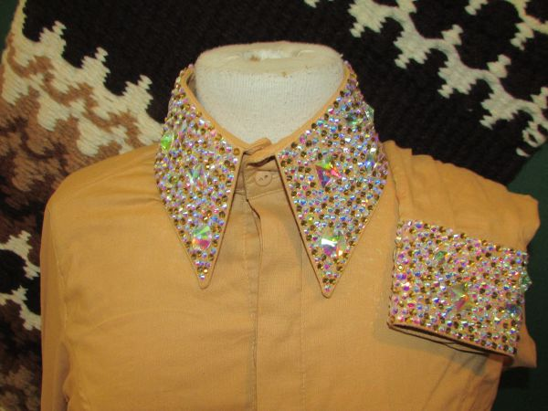 Gold Ladies western Show shirt