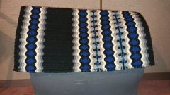 Royal Blue, White, Black Show Pad