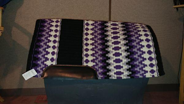 Purple, white, black and gray show pad