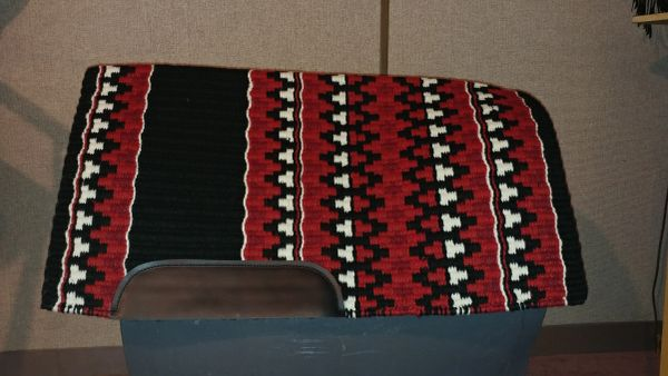 Red, white, black show pad