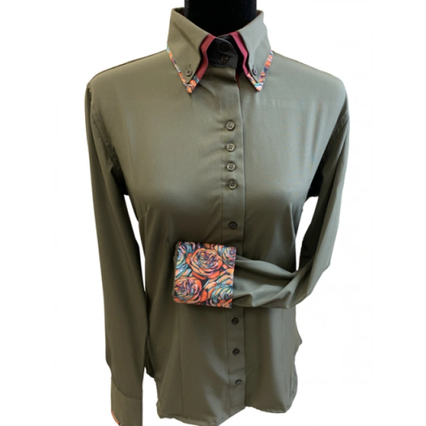 Micro fiber double collar shirt