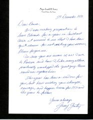 TEST PILOT JERRY GENTRY HANDWRITTEN LETTER SIGNED REGARDING THE DEATH OF AVIATION PIONEER ROSCOE TURNER