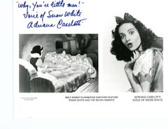 DISNEY, SNOW WHITE/SEVEN DWARFS, SIGNED BY ADRIANA CASELOTTI