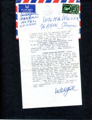 WEEGEE (ARTHUR FELLIG) TYPED LTR SIGNED EXCELLENT CONTENT ON PSYCHIC POWER, PUBLICITY, ZIFF DAVIS ADVANCE ON BOOK, BOLEX, HASSELBLAD