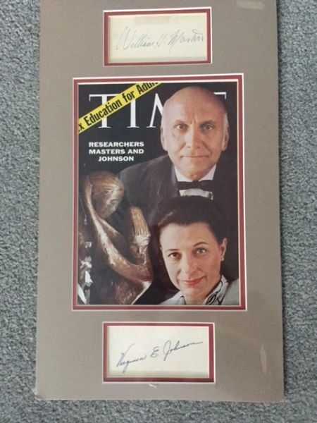 WILLIAM H. MASTERS AND VIRGINIA E. JOHNSON, HUMAN SEXUAL RESPONSE RESEARCHERS, HAND SIGNED ENSEMBLE