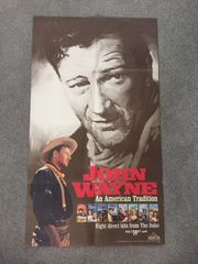 JOHN WAYNE VINTAGE ORIGINAL 1990 MGM/UA STUDIO HOME VIDEO POSTER