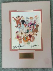 HANNA & BARBERA HAND SIGNED, COLOR, 8 X 10, OF CHARACTERS THEY CREATED