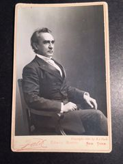 EDWIN BOOTH, 19TH CENTURY, AMERICAN SHAKESPEAREAN ACTOR, VINTAGE, CABINET PHOTO BY B J FALK, NY 1889