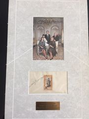 GRACE KELLY AND PRINCE RAINER III HAND SIGNED PHOTOS IN A MATTED ENSEMBLE