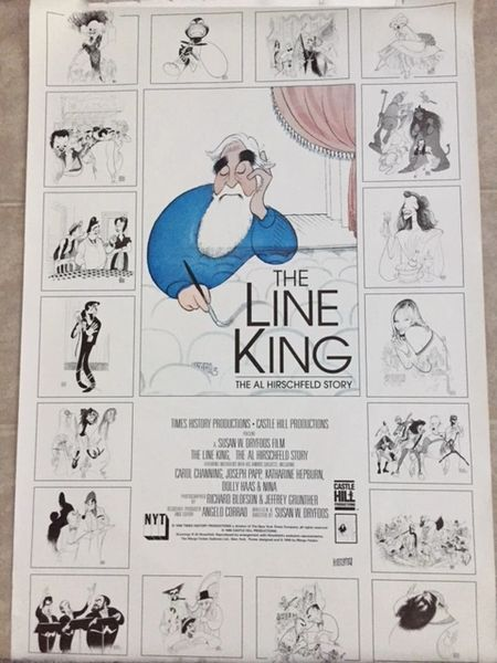 AL HIRSCHFELD HAND-SIGNED ORIGINAL VINTAGE 1996 MOVIE POSTER FOR THE LINE KING, 27 X 40