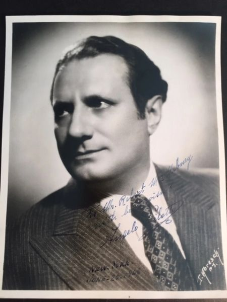 ANGELO PILOTTO SIGNED PHOTO OF OPERATIC BARITONE AT NEW YORK OPERA COMPANY