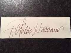 CHILDE HASSAM SIGNATURE OF AMERICAN IMPRESSIONIST PAINTER