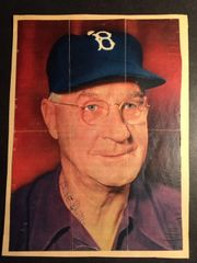 BURT E.SHOTTON SIGNED 8 X 10 MAGAZINE PHOTO OF BROOKLYN DODGERS MANAGER