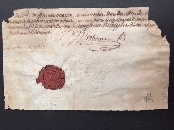 HONORE GABRIEL RIQUETI, COUNT OF MIRABEAU HANDWRITTEN LETTER SIGNED BY VOICE OF FRENCH REVOLUTION