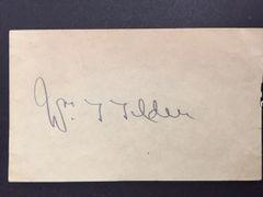 WILLIAM TILDEN SIGNED ALBUM PAGE BY TENNIS CHAMPION PSA/DNA