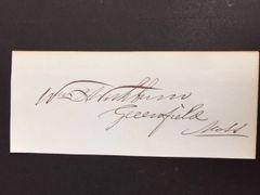 WILLIAM B. WASHBURN SIGNED 28TH GOV. MASS., CIVIL WAR CONGRESSMAN, SENATOR, BUSINESSMAN