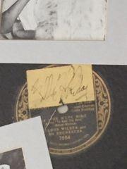 BILLIE HOLIDAY SIGNED ENSEMBLE OF AMERICAN JAZZ SINGER, VINTAGE 78 DISC IF YOU WERE MINE