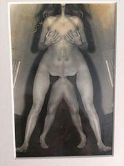 WEEGEE (ARTHUR FELLIG) PHOTOGRAPH SILVER GELATIN NUDE DISTORTION C. 1950'S