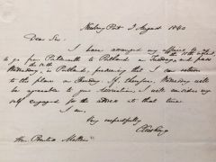 CALEB CUSHING HANDWRITTEN LETTER SIGNED AMERICAN POLITICIAN, DIPLOMAT