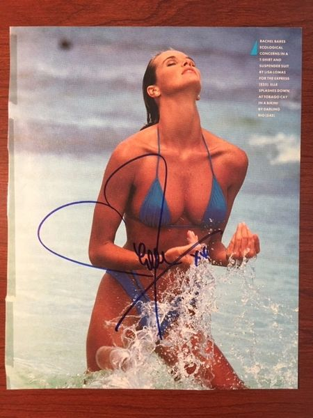 ELLE MACPHERSON HAND-SIGNED SEXY SWIMSUIT PHOTO OF SUPER MODEL, THE BODY