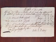 REVOLUTIONARY WAR: JOSEPH TALCOTT HANDWRITTEN DOC SIGNED OFFICER AT BATTLE OF LEXINGTON IN 1775