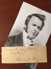 CHARLES F. DEEMS SIGNED CARD AM METHODIST CLERGYMAN, PRES GREENSBORO FEMALE COLLEGE, AUTHOR