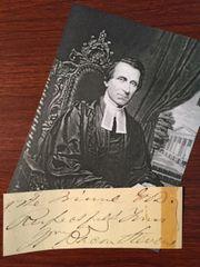 WILLIAM BACON STEVENS SIGNED SLIP EPISCOPAL BISHOP OF PENNSYLVANIA 1865, MD, HISTORIAN, AUTHOR