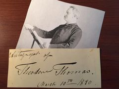 THEODORE THOMAS SIGNED SLIP AMERICAN VIOLINIST, CONDUCTOR, CHICAGO