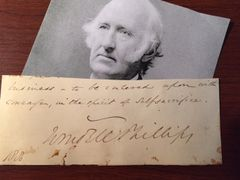 WENDELL PHILLIPS QUOTE SIGNED AM. ABOLITIONIST, WOMEN'S & INDIAN RIGHTS