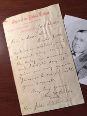 GEORGE WILLIAM CHILDS HANDWRITTEN LTR. SIGNED PHILADELPHIA PUBLIC LEDGER, ANTHONY DREXEL