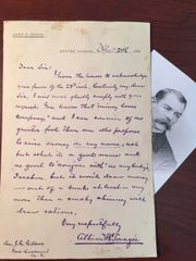 ALBION W. TOURGEE HANDWRITTEN LETTER SIGNED LAWYER PLESSY V. FERGUSON, AUTHOR, CIVIL RIGHTS