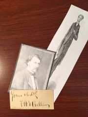 FRANK BELLEW SIGNED SLIP AMERICAN ARTIST, CARTOONIST, A. LINCOLN