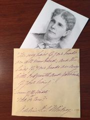 ADELINE DUTTON TRAIN WHITNEY QUOTE SIGNED FROM ODD OR EVEN 1880