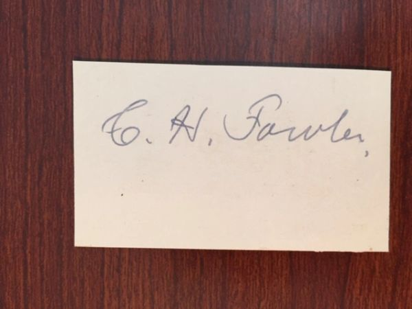 C. HODGSON FOWLER SIGNED SLIP ENGLISH ECCLESIASTICAL ARCHITECT, SIR GEORGE SCOTT