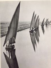 ALFRED EISENSTAEDT ORIGINAL VINTAGE PHOTOGRAVURE EGYPTIAN FISHING BOATS, SUEZ CANAL C.1960