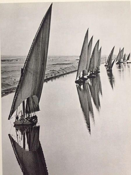 ALFRED EISENSTAEDT ORIGINAL VINTAGE PHOTOGRAVURE EGYPTIAN FISHING BOATS, SUEZ CANAL C.1960
