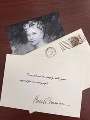 BESS TRUMAN SIGNED CARD FIRST LADY TO PRESIDENT HARRY TRUMAN