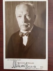 RICHARD STRAUSS SIGNED PHOTO GERMAN COMPOSER, CONDUCTOR, PIANIST, VIOLINIST