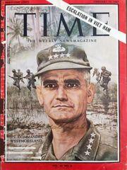 WILLIAM WESTMORELAND SIGNED TIME MAGAZINE COVER, GENERAL, VIETNAM 1965